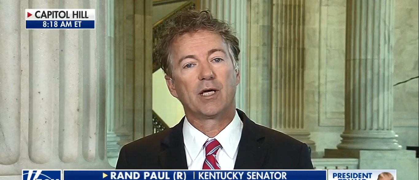 Sen. Rand Paul On Fox and Friends Speaking On Obamacare Repeal 09-27-17 (Screenshot-Fox News)