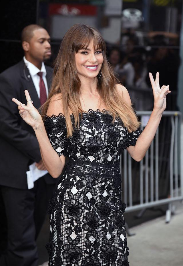 Sofia Vergara seen at 'Good Morning America' in New York City, New York, USA. <P> Pictured: Sofia Vergara <B>Ref: SPL1589244 270917 </B><BR /> Picture by: Derek Storm / Splash News