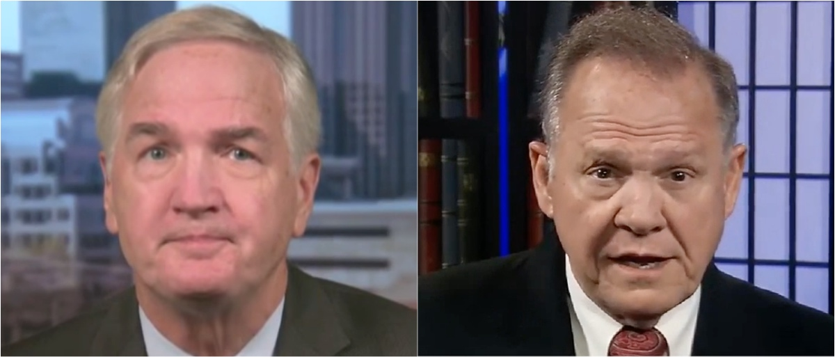 Luther Strange (left) and Roy Moore (right). (Youtube screen grab)