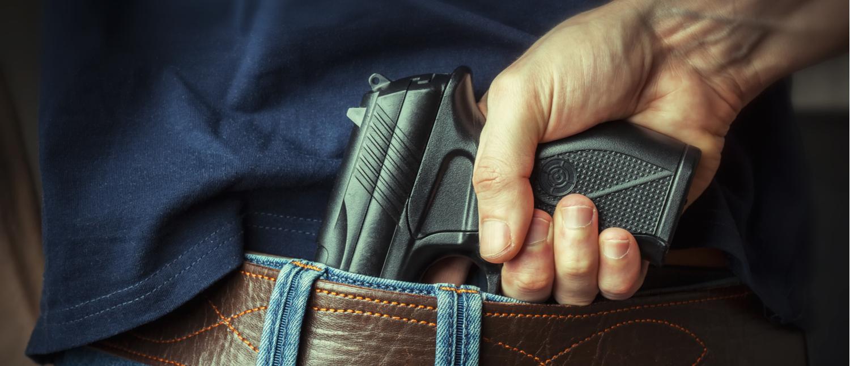Concealed handgun (Photo: Shutterstock/Maksym Dykha)
