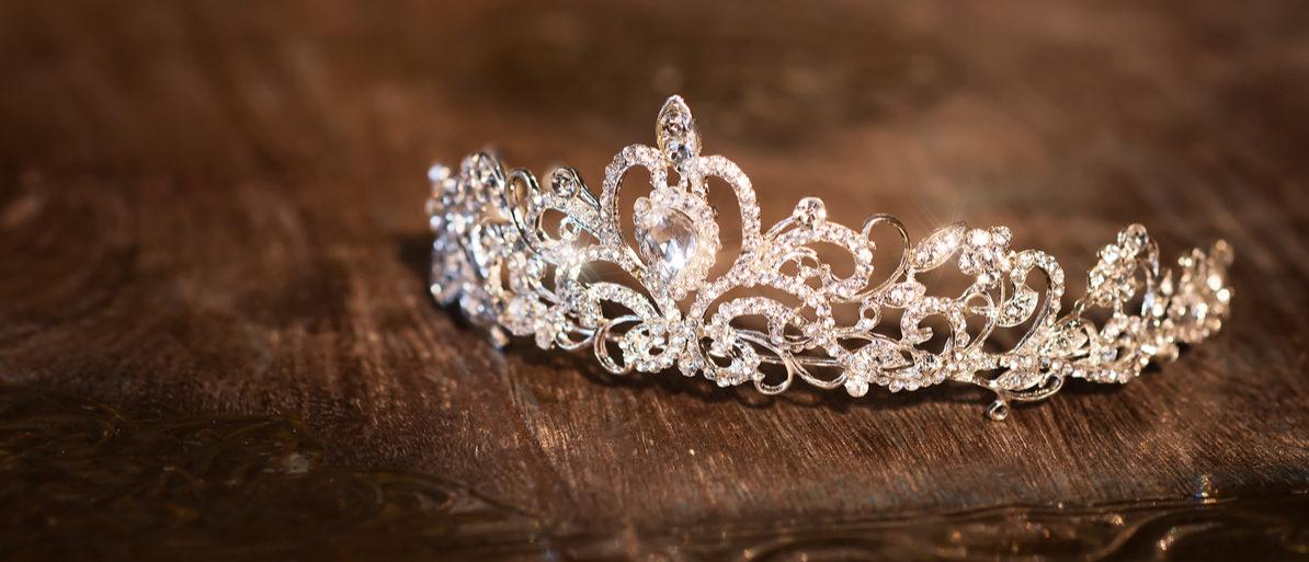Shutterstock/ Wedding crown tiara diadem. Luxury accessories