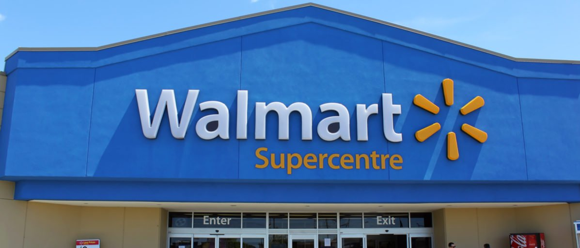 Shutterstock/ ETOBICOKE, CANADA - JULY 24: Walmart Supercentre entrance on July 24, 2013 in Etobicoke, Ontario, Canada. Walmart is the world's third largest public corporation that runs chains of department stores.