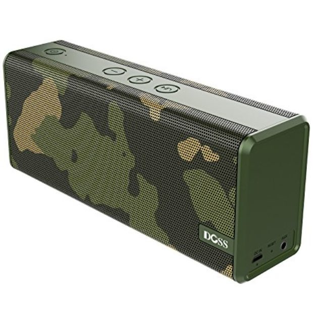 Normally $60, this bluetooth speaker is 67 percent off today. In addition to camo, it comes in black, white and wave blue (Photo via Amazon)