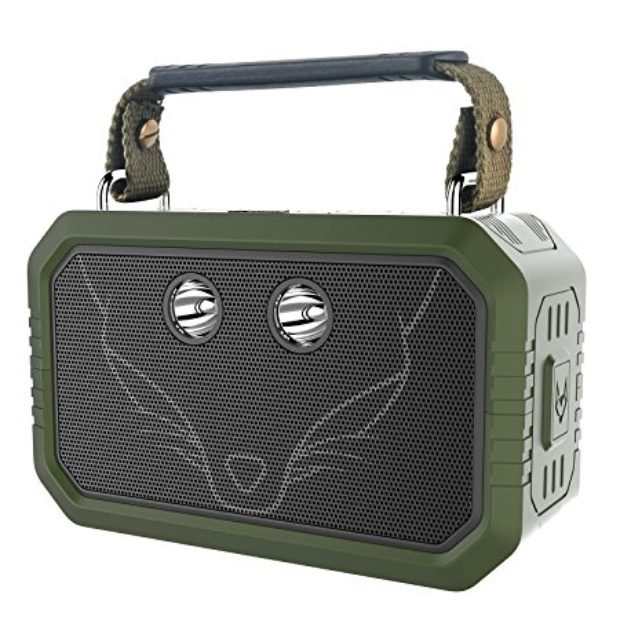 Normally $130, this waterproof bluetooth speaker is 65 percent off today. It is also available in black (Photo via Amazon)