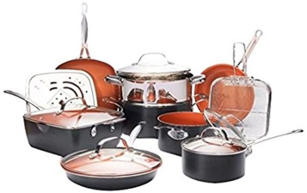 Normally $160, this 15-piece pan set is 25 percent off today (Photo via Amazon)