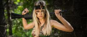 Woman with gun (Credit: Shutterstock)
