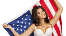 God bless America is all I can say to this girl in a white bikini. (photo: Shutterstock)