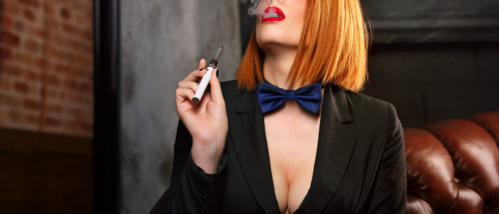 A bow-tied vaper (Photo via Shutterstock)