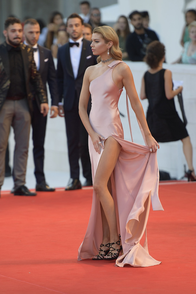 """Stella Maxwell and Michelle Pfeiffer attend the """"Mother"""" premiere at the 74th Venice Film Festival in Venice, Italy. <P> Pictured: Stella Maxwell <B>Ref: SPL1569329 060917 </B><BR /> Picture by: Anna Maria Tinghino/Splash News"""