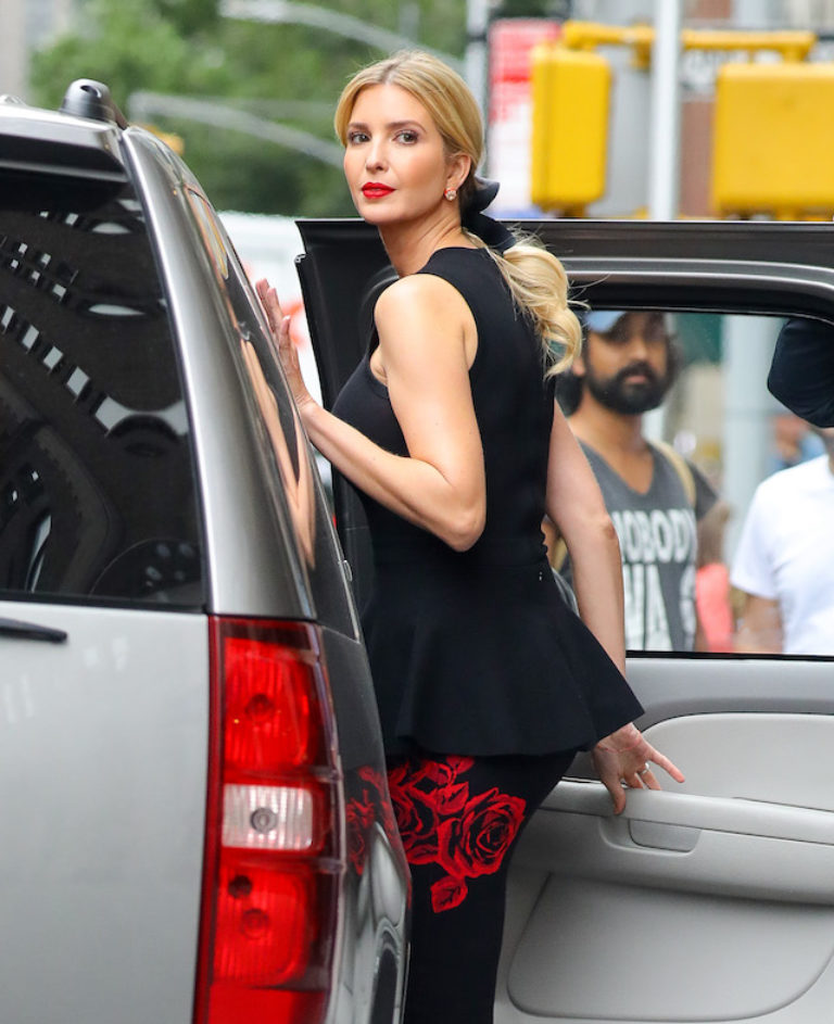 PHOTOS: Ivanka Trump Stuns New York In Little Black Dress ...  Ivanka Trump Car