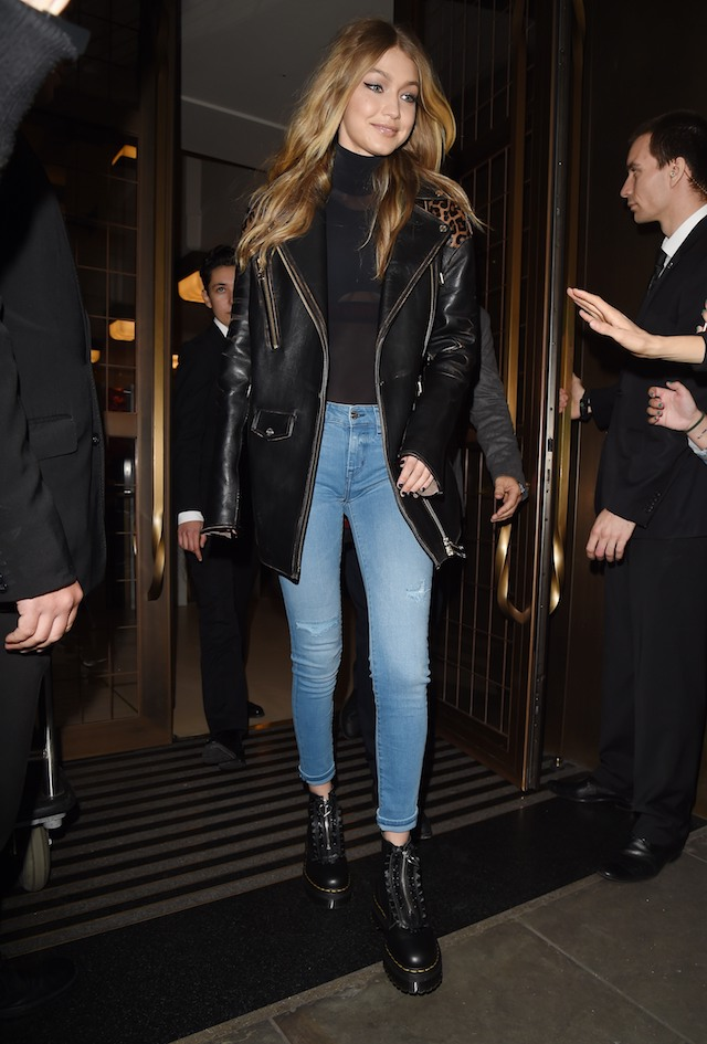 Gigi Hadid is spotted out and about during London Fashion Week SS18 in London, England, UK. <P> Pictured: Gigi Hadid <B>Ref: SPL1583107 190917 </B><BR /> Picture by: Splash News