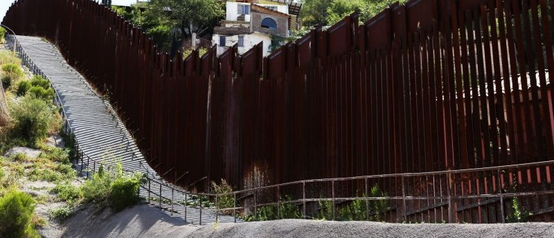 The U.S.-Mexico border fence cuts through Nogales, Arizona, U.S. September 14, 2017. Photo taken September 14, 2017. REUTERS/Caitlin O'Hara