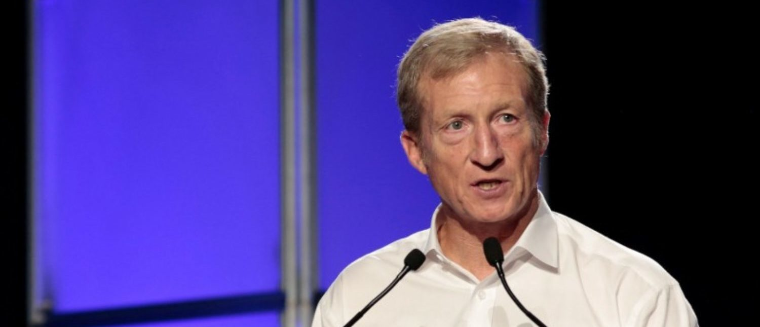 FILE PHOTO: American environmentalist Tom Steyer speaks at the Netroots Nation annual conference for political progressives in Atlanta, Georgia, U.S. August 12, 2017. REUTERS/Christopher Aluka Berry/File Photo