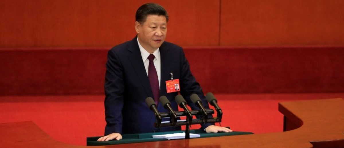 China's President Xi Jinping speaks during the opening session of the 19th National Congress of the Communist Party of China at the Great Hall of the People in Beijing, China October 18, 2017. REUTERS/Aly Song