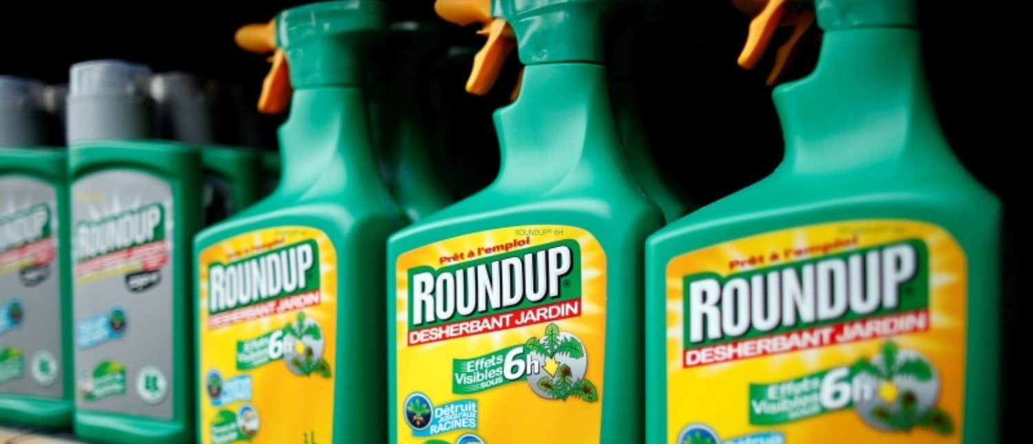 FILE PHOTO: Monsanto's Roundup weedkiller atomizers are displayed for sale at a garden shop at Bonneuil-Sur-Marne near Paris, France, June 16, 2015.