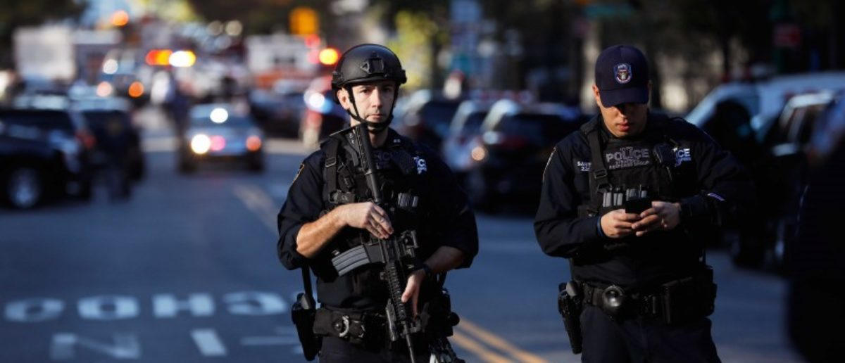 Police block off the street after a shooting incident in New York City, U.S. October 31, 2017. REUTERS/Shannon Stapleton