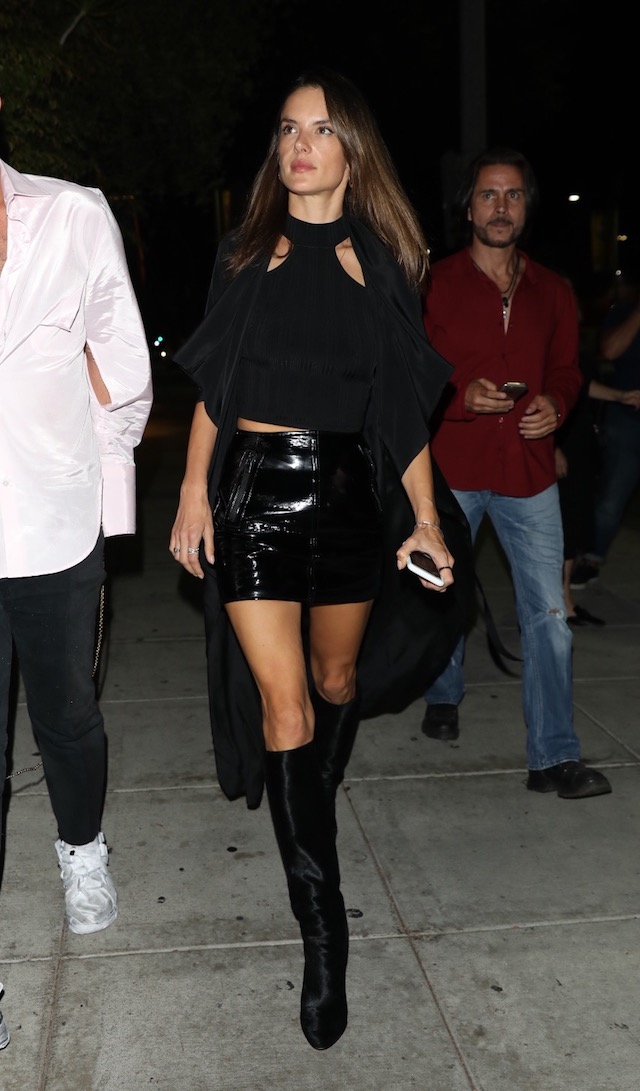 Alessandra Ambrosio is seen leaving Matsuhisa in Los Angeles, California <P> Pictured: Alessandra Ambrosio <B>Ref: SPL1595663 051017 </B><BR /> Picture by: Mr.Canon / Splash News