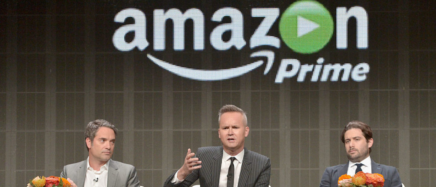 BEVERLY HILLS, CA - AUGUST 03: (L-R) Head of Drama, Amazon Studios, Morgan Wandell, Head of Amazon Studios, Roy Price and Head of Comedy, Amazon Studios Joe Lewis speak onstage during the 'Executives' panel discussion at the Amazon Studios portion of the 2015 Summer TCA Tour on August 3, 2015 in Beverly Hills, California. (Photo by Charley Gallay/Getty Images for Amazon Studios)