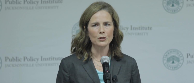 Amy Coney Barrett speaks at Jacksonville University in 2016. (YouTube screenshot/Jacksonville University)