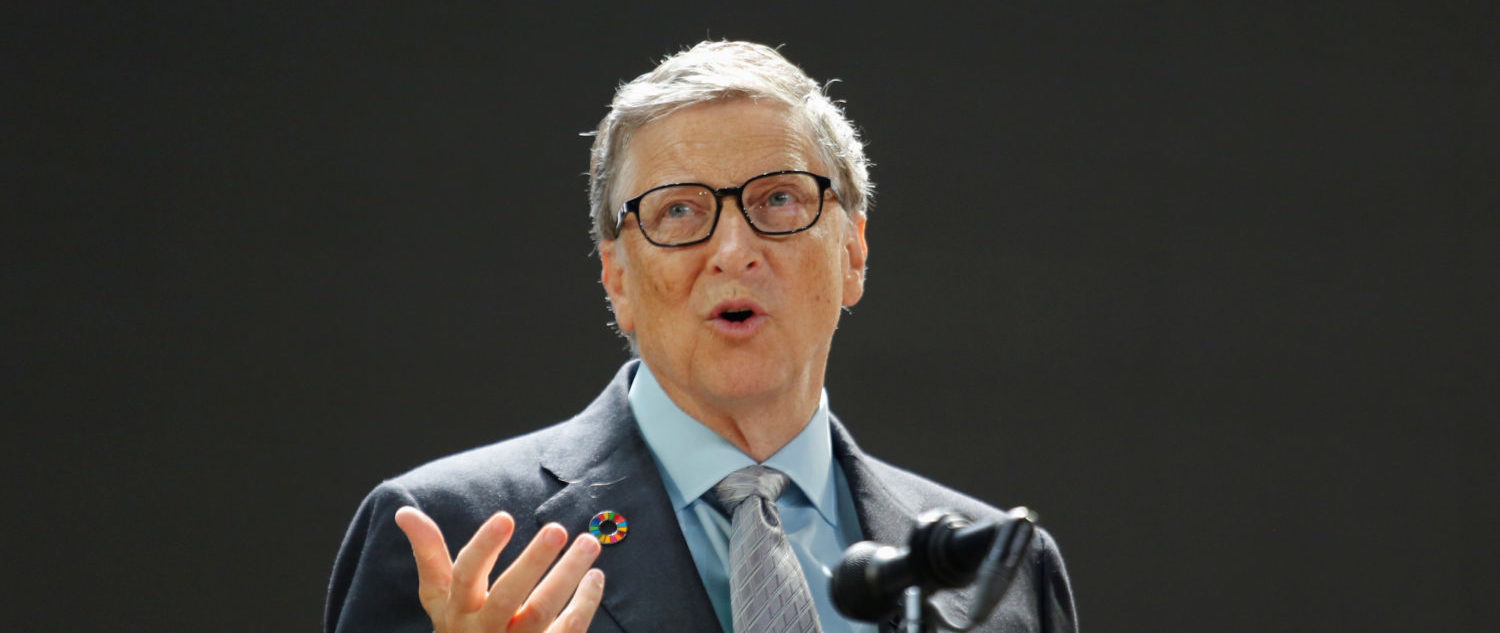 Bill Gates speaks at the Bill and Melinda Gates Foundation Goalkeepers event in Manhattan, New York, U.S., September 20, 2017. (REUTERS/Elizabeth Shafiroff)