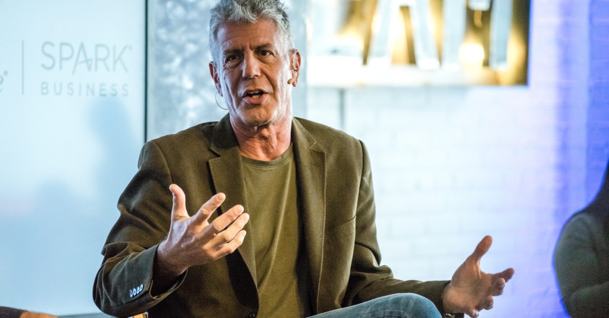Anthony Bourdain calls out the hypocrisy of Clinton (Shutterstock)