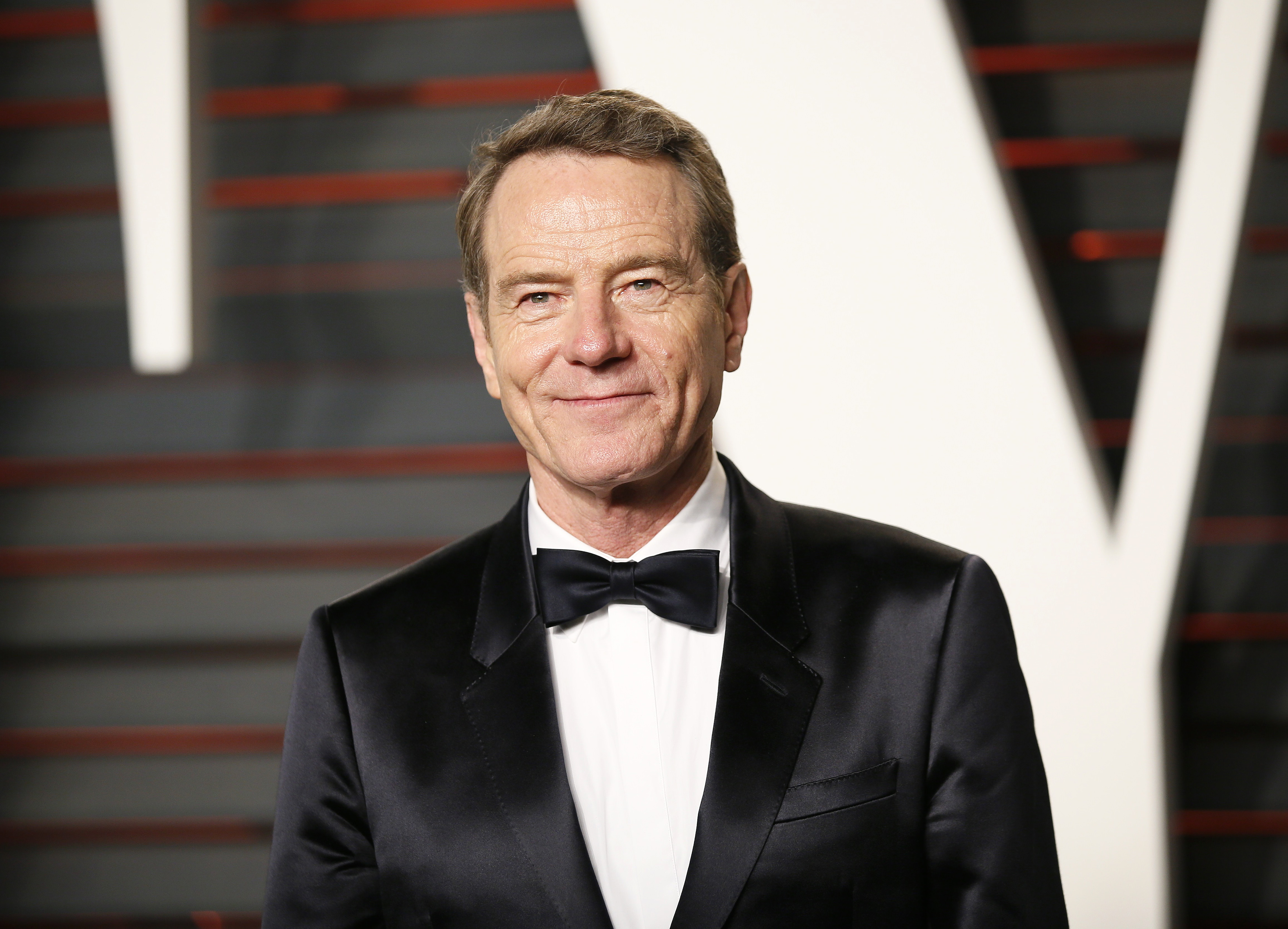 Bryan Cranston arrives at the Vanity Fair Oscar Party in Beverly Hills. (Photo credit: REUTERS/Danny Moloshok)