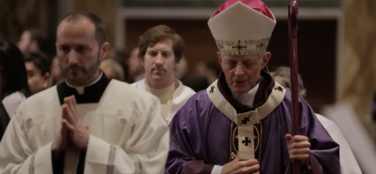 Cardinal Wuerl at St. Matthew's Cathedral in 2017. (YouTube screenshot/WashArchdiocese)