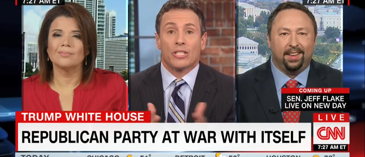 """Host of CNN's """"New Day"""" Chris Cuomo claimed on October 25, 2017, the polls predicting Hillary Clinton would win the 2016 presidential election were """"not wrong."""" (Screenshot-CNN)"""
