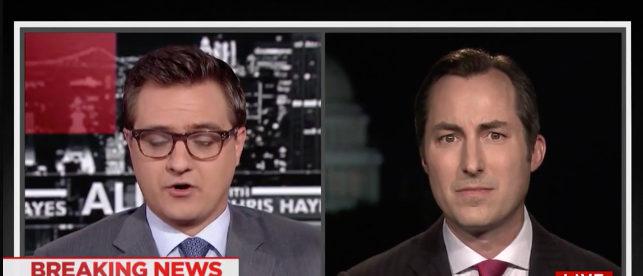 Chris Hayes conspiracy MSNBC screenshot