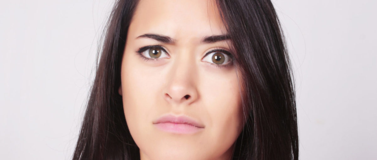 Confused woman gives a most inquisitive glance. (Shutterstock/AstridSinai)