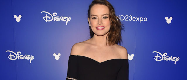 ANAHEIM, CA - JULY 15: Actor Daisy Ridley of STAR WARS: THE LAST JEDI took part today in the Walt Disney Studios live action presentation at Disney's D23 EXPO 2017 in Anaheim, Calif. STAR WARS: THE LAST JEDI will be released in U.S. theaters on December 15, 2017. (Photo by Alberto E. Rodriguez/Getty Images for Disney)