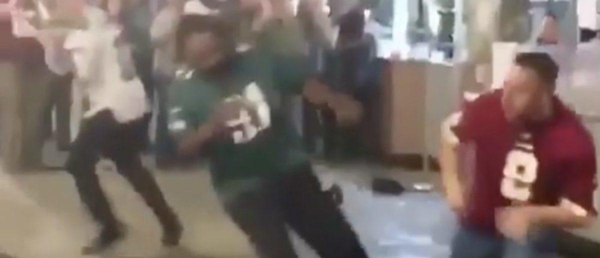 Eagles Fan Fight (Credit: Screenshot/Instagram video)