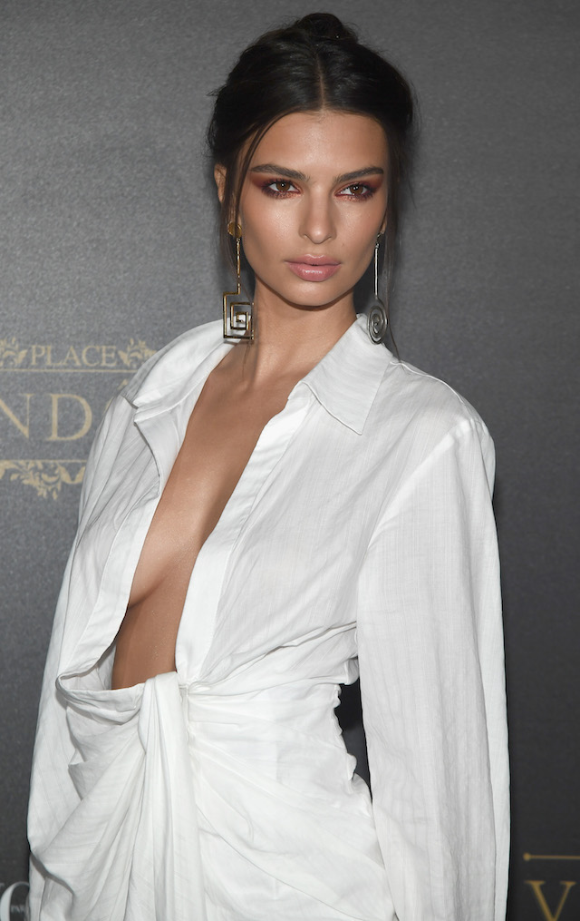 PARIS, FRANCE - OCTOBER 01: Emily Ratajkowski attends the Vogue Party as part of the Paris Fashion Week Womenswear Spring/Summer 2018 at Le Petit Palais on October 1, 2017 in Paris, France. (Photo by Pascal Le Segretain/Getty Images)