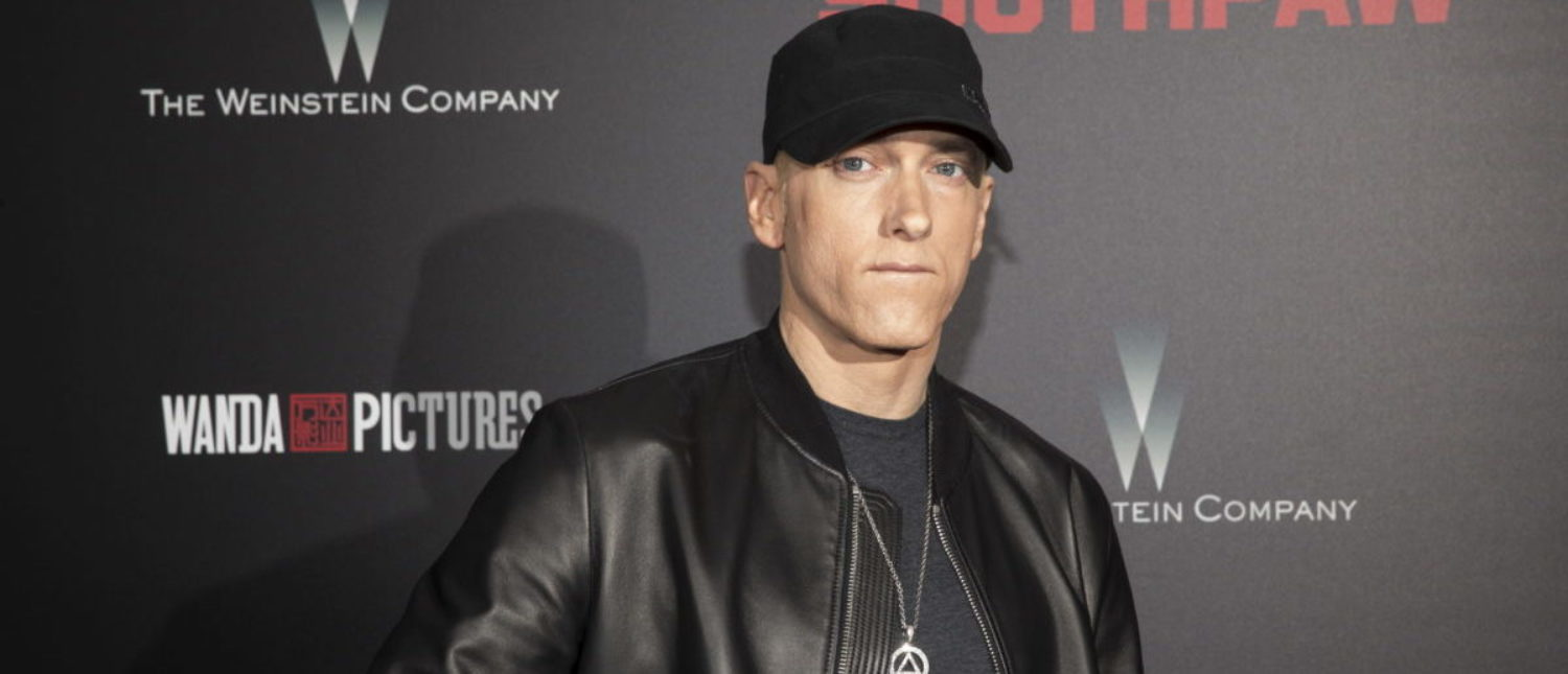 "Musician Eminem attends the premiere of ""Southpaw"" in New York July 20, 2015. (Photo: REUTERS/Andrew Kelly)"