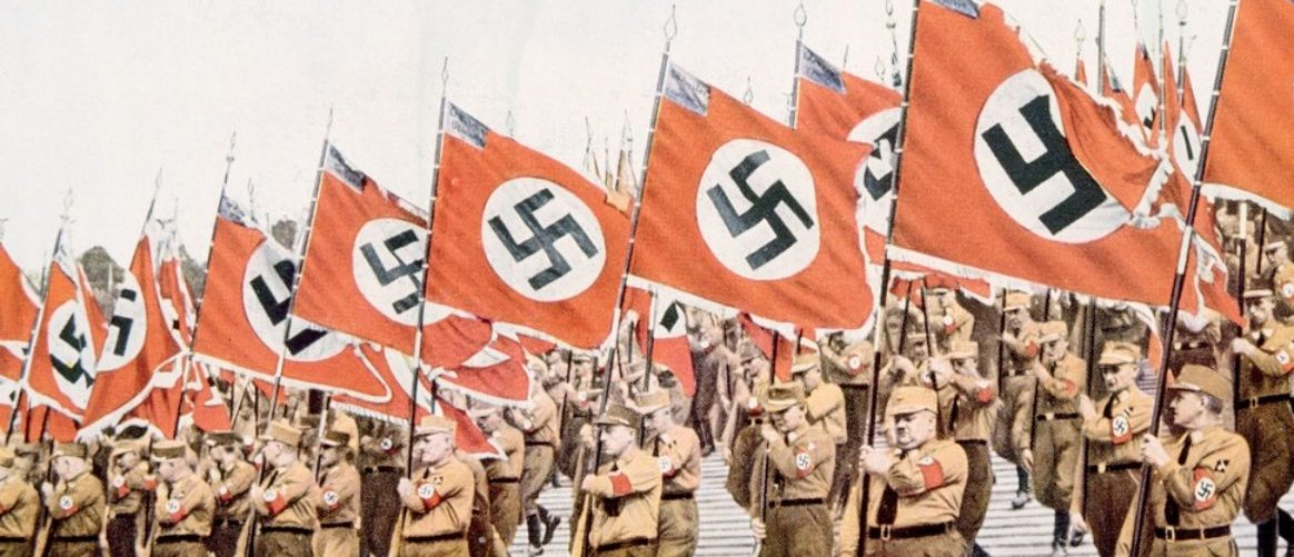 Entrance Of The Nazi Flagbearers At The Party Day Rally In Nuremberg 1933 (shutterstock/ Everett Historical)