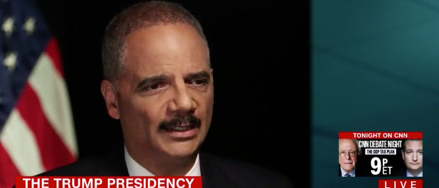 Eric Holder CNN screenshot
