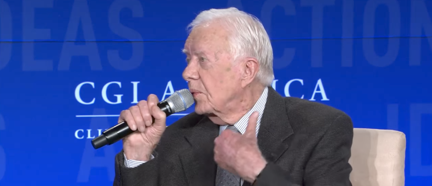 Former President Jimmy Carter speaks at the Clinton Global Initiative. (YouTube screenshot/Clinton Global Initiative)