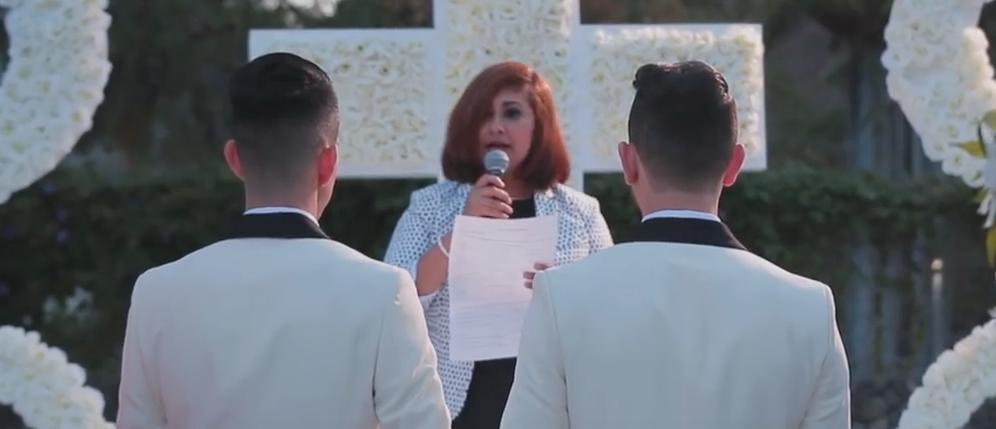 Gay wedding ceremony. (Youtube screenshot/Hado Eventos)