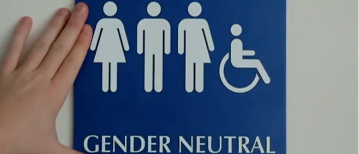 Gender neutral bathroom. (Youtube screenshot/Fox News)