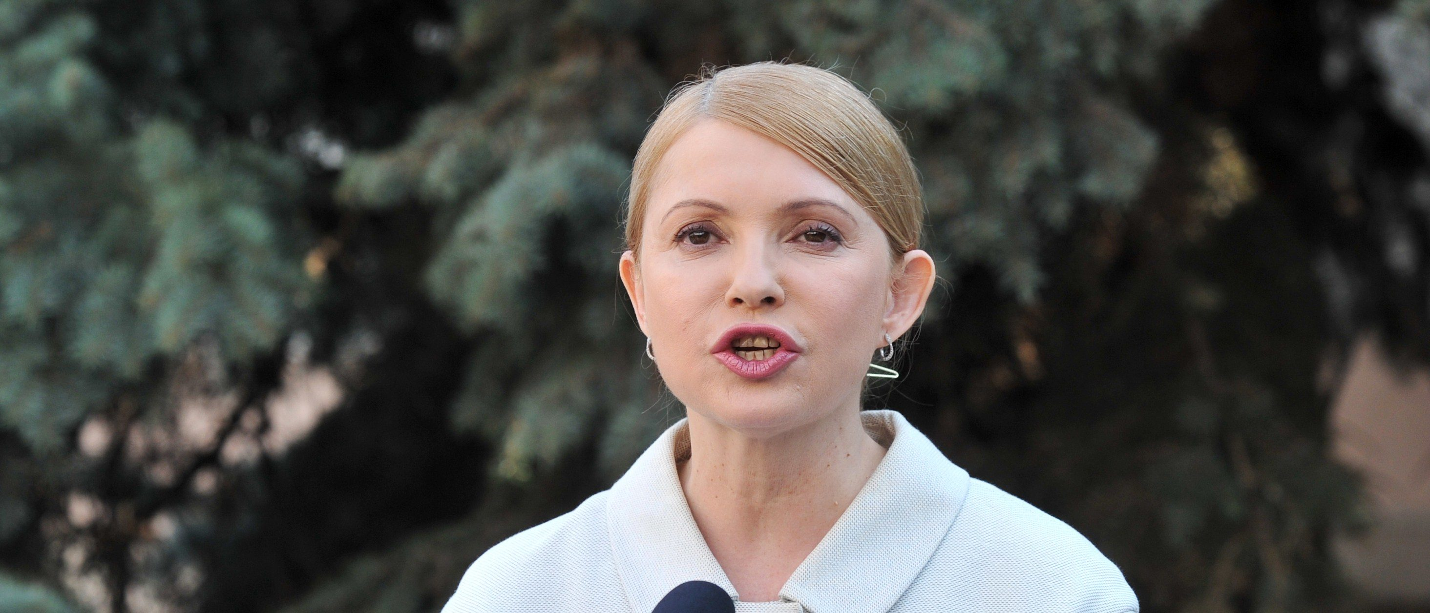 Former Ukrainian prime minister and opposition leader Yulia Tymoshenko speaks during a press conference in Kiev on March 27, 2014. Ukraine's formerly jailed divisive opposition icon Yulia Tymoshenko completed an improbable return to politics on March 27 following her release on February 22, by confirming plans to run for president in elections on May 25. AFP PHOTO/GENYA SAVILOV (Photo credit should read GENYA SAVILOV/AFP/Getty Images)