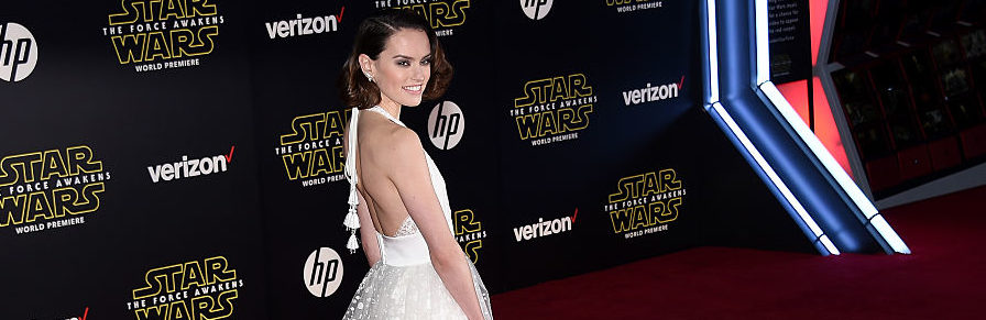 """Daisy Ridley attending the premiere of Walt Disney Pictures and Lucasfilm's """"Star Wars: The Force Awakens"""" at the Dolby Theatre in December 2015 in Hollywood. (Photo Credit/Getty Images)"""