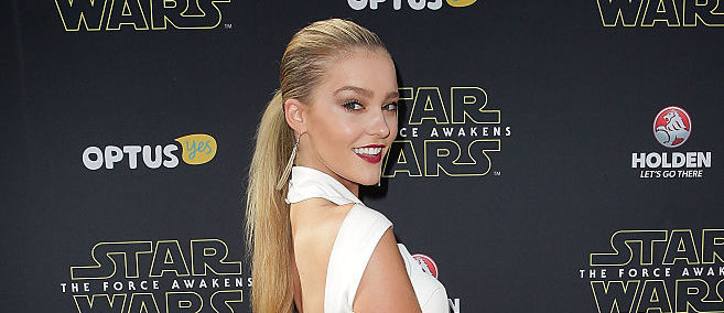 SYDNEY, AUSTRALIA - DECEMBER 16:  Georgia Gibbs arrives ahead of the 'Star Wars: The Force Awakens' Australian premiere on December 16, 2015 in Sydney, Australia.  (Photo by Mark Metcalfe/Getty Images)