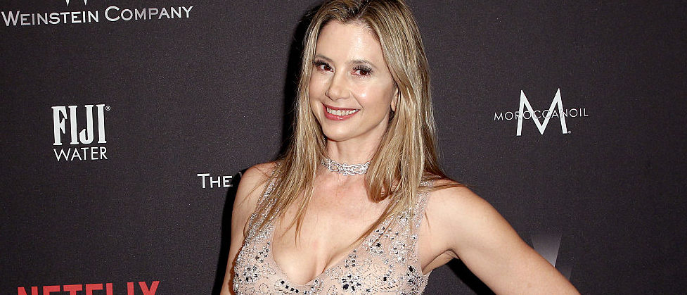 Mira Sorvino attending The Weinstein Company and Netflix Golden Globe Party at The Beverly Hilton Hotel in January 2017 in Beverly Hills. (Photo by Tommaso Boddi/Getty Images for The Weinstein Company)