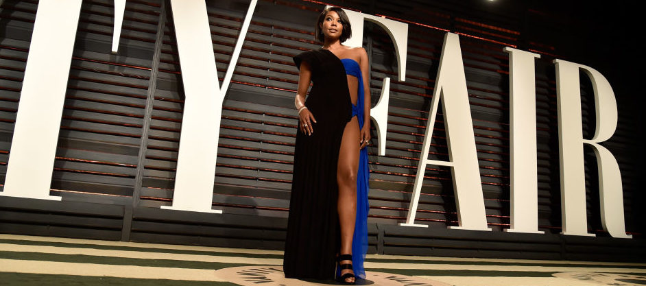 Gabrielle Union attending the 2017 Vanity Fair Oscar Party hosted by Graydon Carter at Wallis Annenberg Center for the Performing Arts in February 2017 in Beverly Hills. (Photo by Pascal Le Segretain/Getty Images)