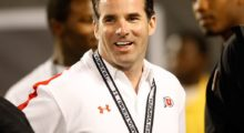 Under Armour founder and president Kevin Plank watches the All American Under Armour Football Game at the Florida Citrus Bowl in January 2009 in Orlando, Florida.  (Photo by J. Meric/Getty Images)