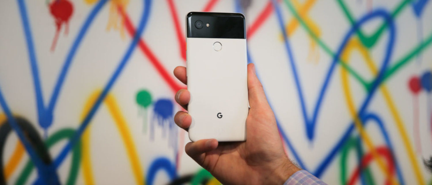 The new Google Pixel 2 XL smartphone is seen at a product launch event, October 4, 2017, at the SFJAZZ Center. Google on Wednesday unveiled newly designed versions of its Pixel smartphone, the highlight of a refreshed line of devices which are part of the tech giant's efforts to boost its presence against hardware rivals. (Photo: ELIJAH NOUVELAGE/AFP/Getty Images)