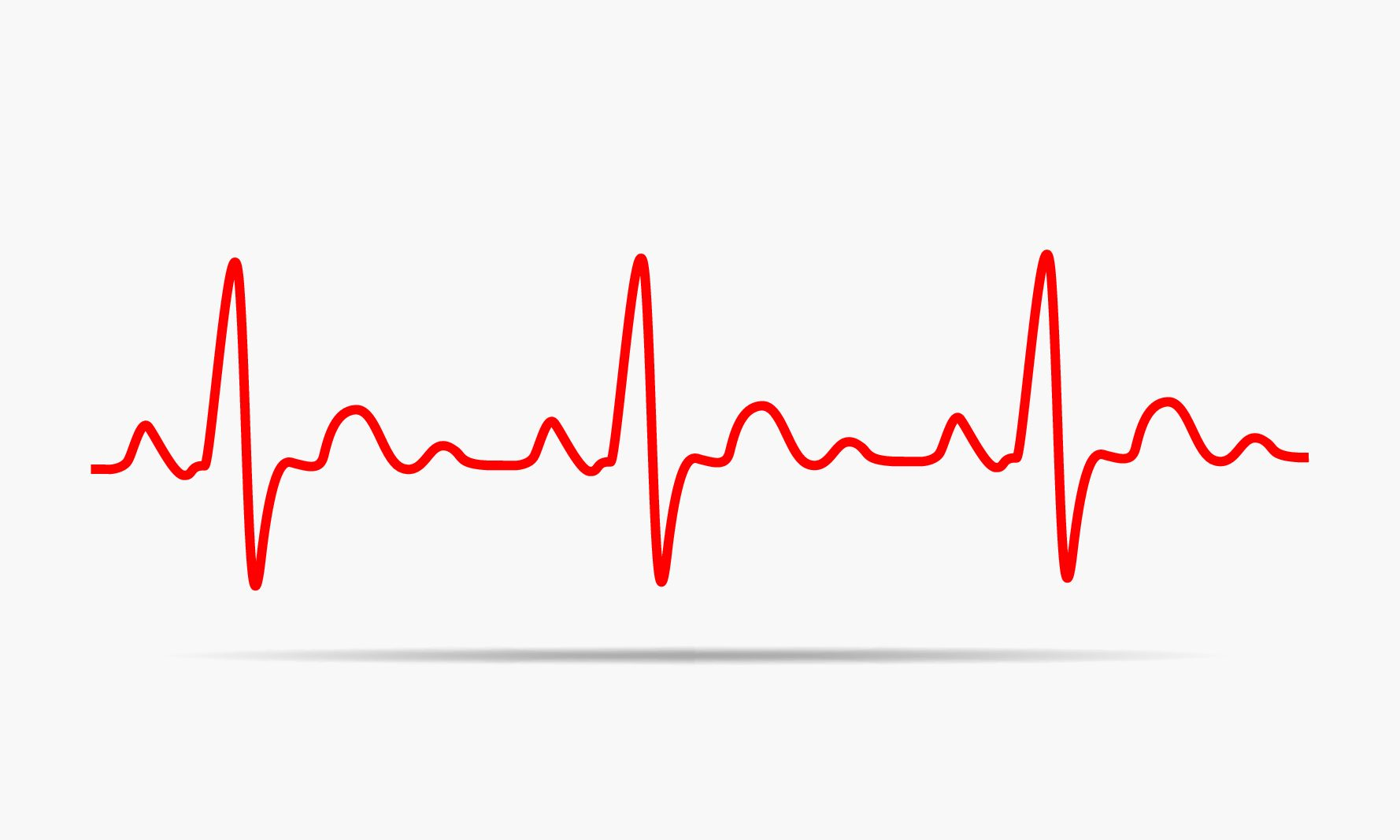 Red heartbeat icon. Vector illustration. Heartbeat sign in flat design. (Shutterstock/Haali).