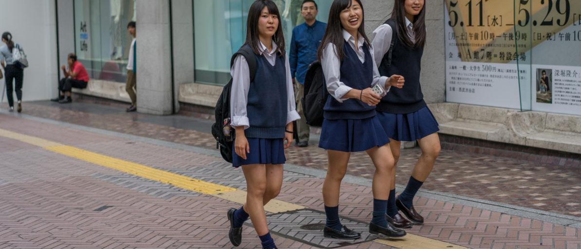 Tokyo, Japan - Circa May 2016 - japanese school girls in tokyo  (Reuters)