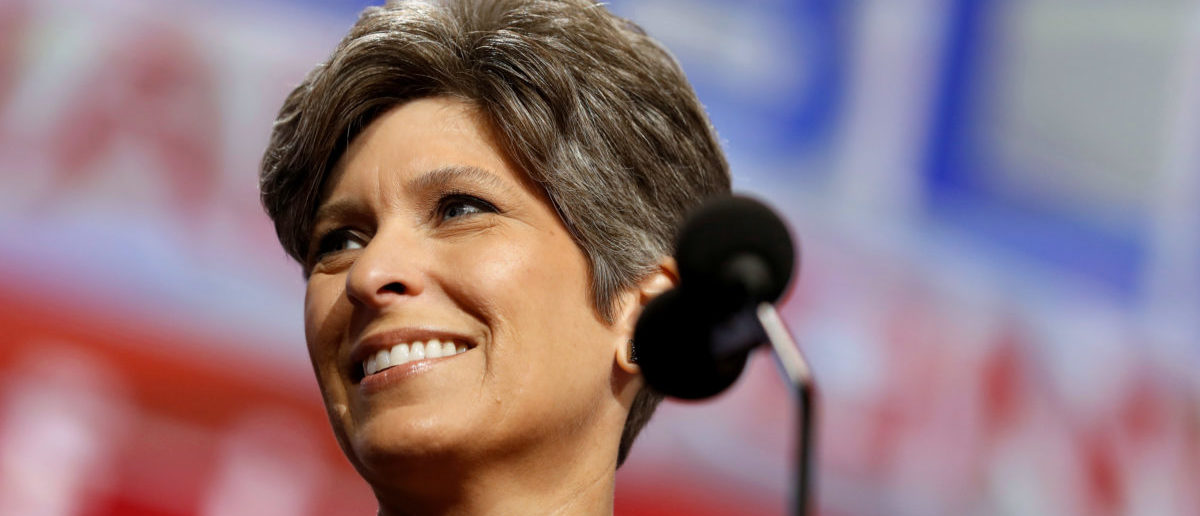 Ernst practices her appearance at the Republican National Convention in Cleveland