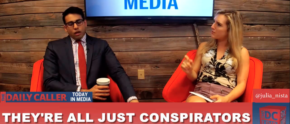 Julia Nista and Saagar Enjeti on Today In Media, Oct 20, 2017 Screenshot